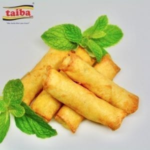 Fried Cheese Rolls Enjoy the Spring roll sheets filled with white cheese and mozzarella which create a combination of taste and texture so scrumptious you can't help eating more than one.