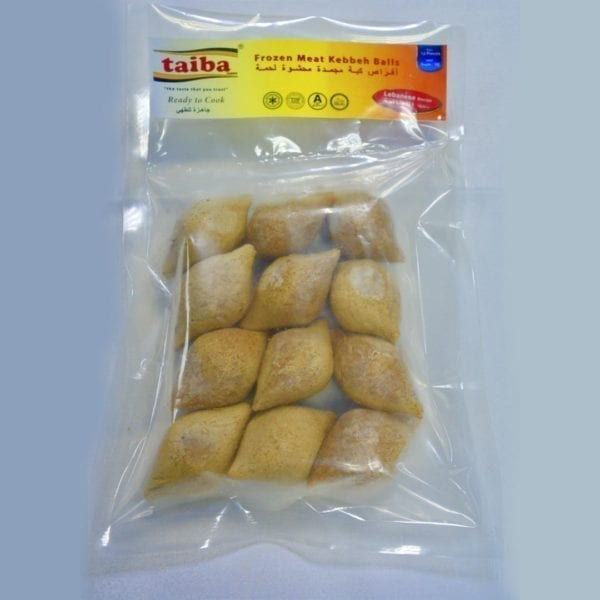 12) Meat Kibbeh Balls (Ready to Cook) Enjoy this beloved Lebanese dish made from spiced ground beef and lamb meat, onions, and bulgur. We provide 100% halal food products with the authentic Lebanese taste.